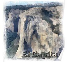 Rock Climbing Yosemite El Capitan Abstract Poster