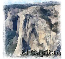 Rock Climbing Yosemite El Capitan Abstract Photographic Print