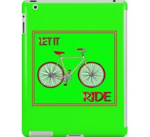 LET IT RIDE; Abstract Whimsical Bicycle Print iPad Case/Skin