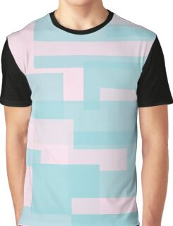 Turquoise and Pink Modern Design Graphic T-Shirt