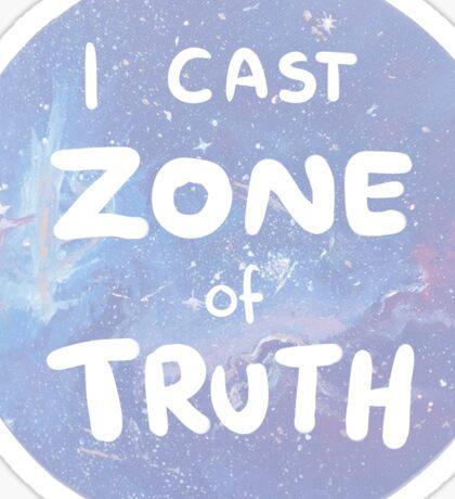 zone of truth Sticker