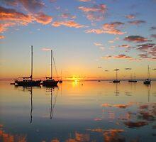 blue & pink sunrise by Aileen Foust