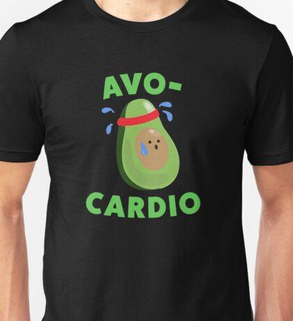 Avo-Cardio Funny Avocado Fitness Unisex T-Shirt