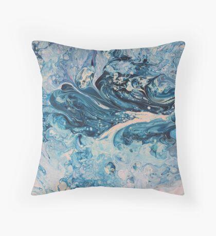 blue flow Throw Pillow