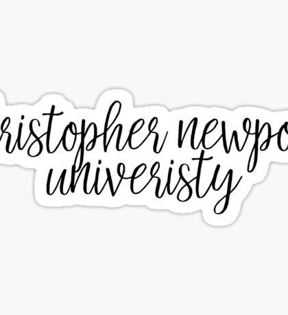 Christopher Newport University Sticker