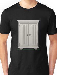 Glitch furniture mediumcabinet basic white medium cabinet Unisex T-Shirt