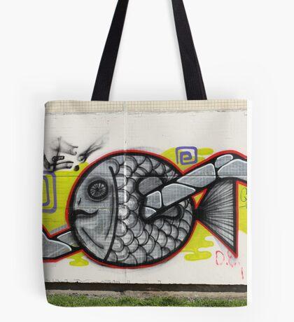 fish graffiti Tote Bag