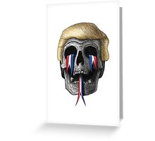 Donald Trump Skull Greeting Card