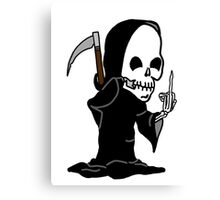 Grim Reaper Giving the Finger Canvas Print