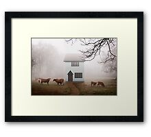 Country House In Mist Framed Print