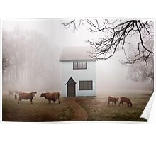 Country House In Mist Poster