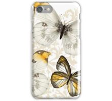Yellow and black butterflies iPhone Case/Skin