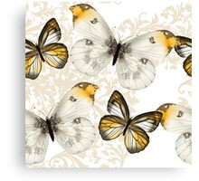 Yellow and black butterflies Canvas Print