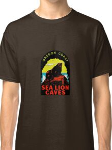 Oregon Coast Sea Lion Caves Vintage Travel Decal Classic T-Shirt