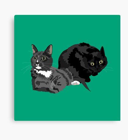 Baggins and Heathcliff Canvas Print