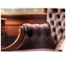 Soft leather chair Poster