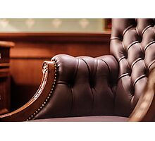 Soft leather chair Photographic Print