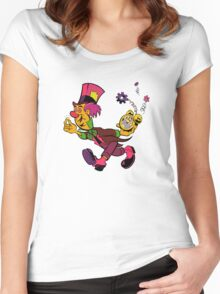 Mad Hatter Tripping The Light Fantastic Women's Fitted Scoop T-Shirt