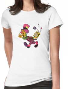 Mad Hatter Tripping The Light Fantastic Womens Fitted T-Shirt