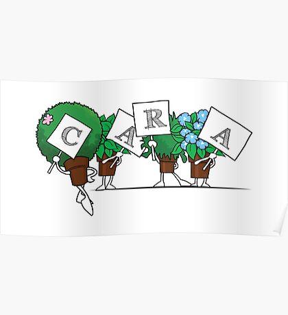 Plant Poses - Cara Poster