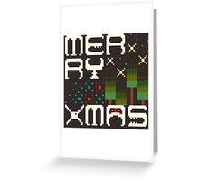 Merry 8bit Christmas Greeting Card