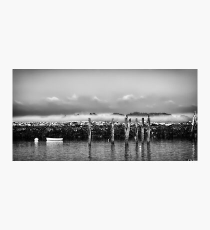 Fog Beyond the Breakwater Photographic Print