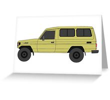 TOYOTA Land Cruiser HZJ75  troop carrier Greeting Card