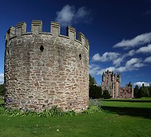Glamis Castle and Tower by Maria Gaellman