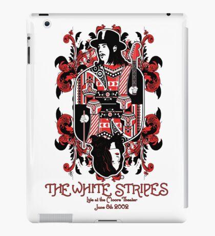 The White Cards Stripes iPad Case/Skin