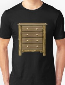 Glitch furniture mediumcabinet log cabin medium cabinet T-Shirt