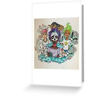 Crazy Ones In TV Color Greeting Card