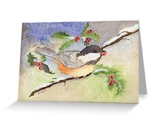 Chickadee in the Snow Greeting Card