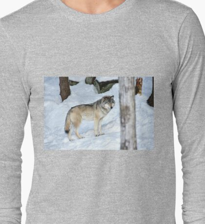 I'm eyeing a possible lunch_Timber Wolf Long Sleeve T-Shirt
