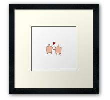Shared Heart Framed Print
