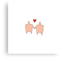 Shared Heart Canvas Print