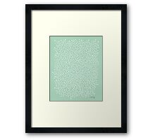 Mint Berry Branches Framed Print