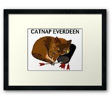 Catnap Everdeen Framed Print