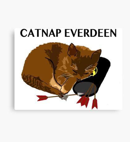 Catnap Everdeen Canvas Print