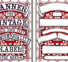 Vintage Hand Drawn Graphic Banners and Labels by aurielaki