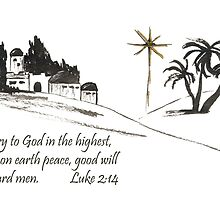 Merry Christmas- Luke 2:14 by Diane Hall
