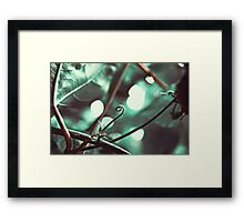 Curled Green Framed Print