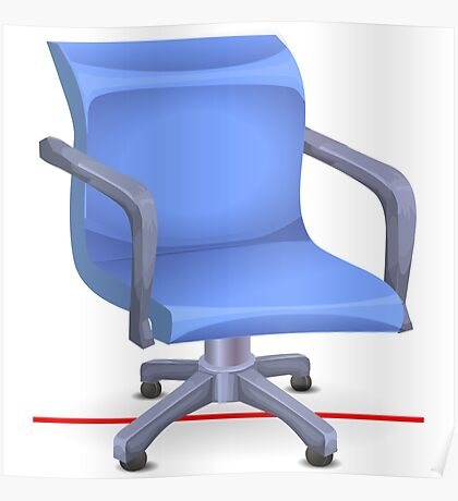 Glitch furniture officechair office chair blue plastic Poster