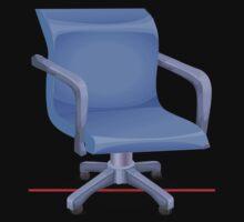 Glitch furniture officechair office chair blue plastic T-Shirt