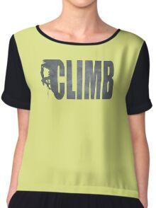 Awesome climbing shirt Chiffon Top