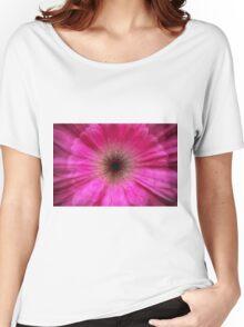Pink bursting Gerber Daisy photograph  Women's Relaxed Fit T-Shirt