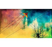 Kite On A Wire Photographic Print