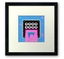 Pink Pixel Vomit Framed Print