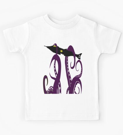 20,000 Leagues Under the Sea Squid Attack Kids Tee