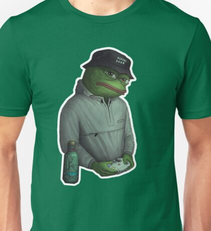 SAD FROG PEPE in Yung Lean expression Unisex T-Shirt