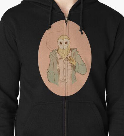 Owl Guy Zipped Hoodie
